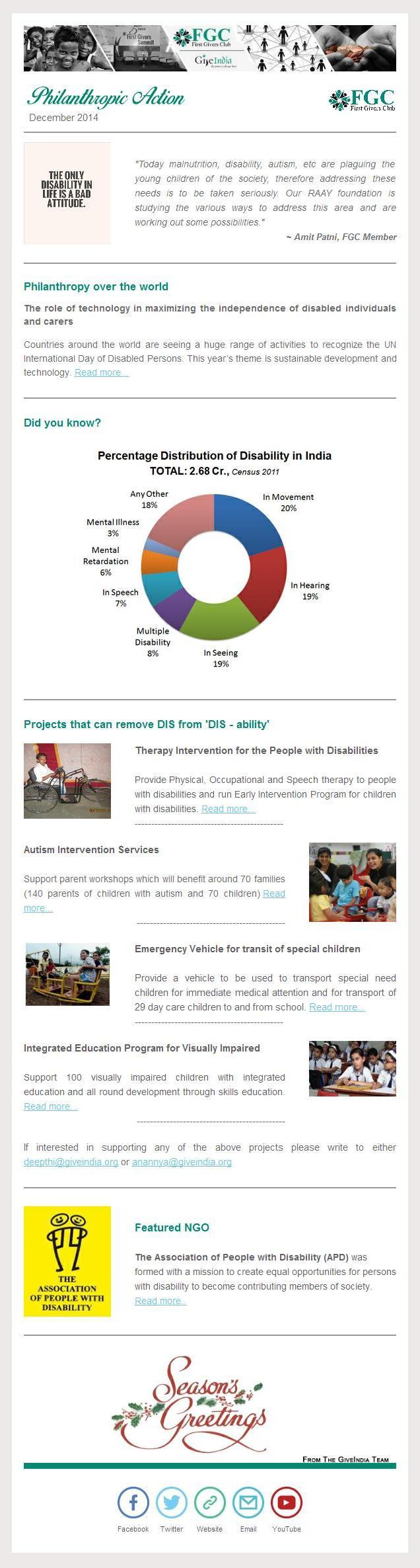 FGC Philanthropic Action - Dec 2014