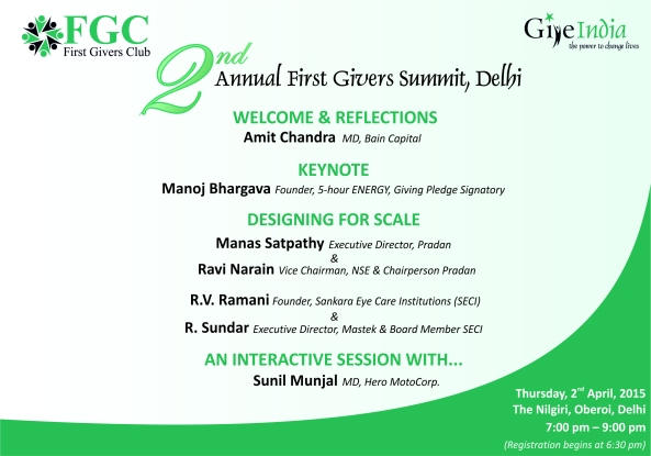 Delhi Summit Agenda